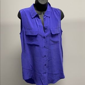Equipment Collared Silk Blouse size Small